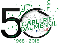 Cablerie daumesnil 50 ans logo