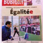 Fabienne sur la couverture du journal de Bobigny Mars 2013