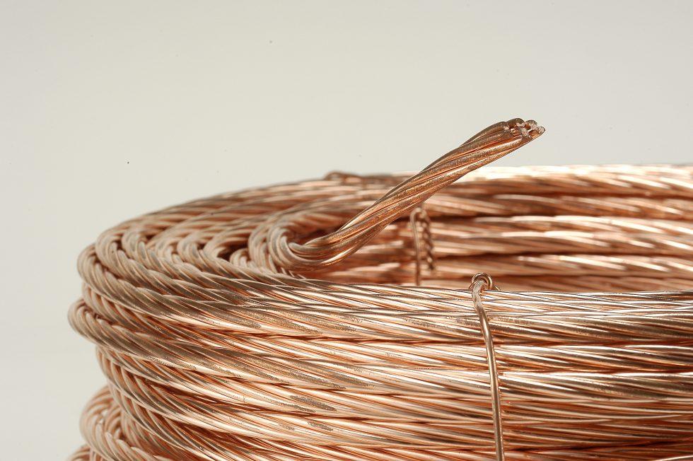 câble de cuivre nu