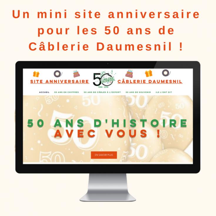Mini site anniversaire 50 ans de Câblerie Daumesnil