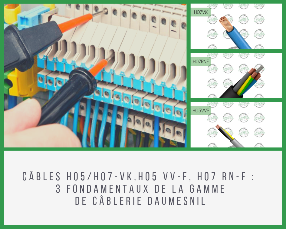 Photo montage câble H07 VK H07RNF H05VVF